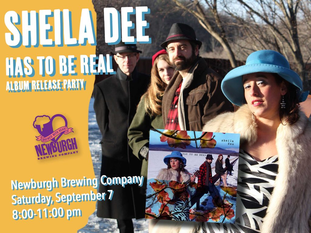 image of sheila dee band with text about album release party